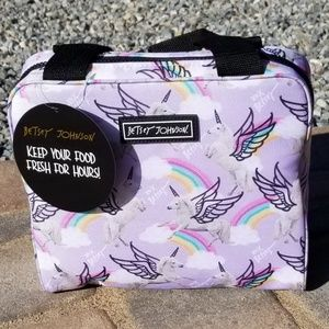 NWT Betsey Johnson Lavender Unicorn Lunch Tote